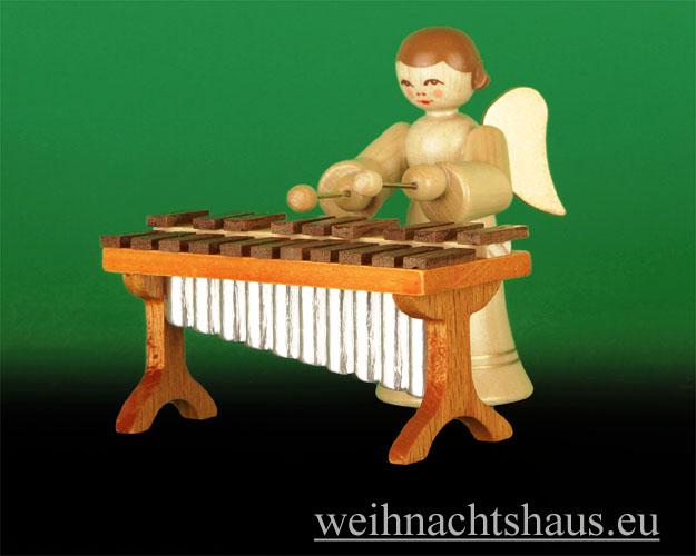 Seiffen Weihnachtshaus - Musikantenengel natur Xylophon 2 tlg. Neu 2014 - Bild 1