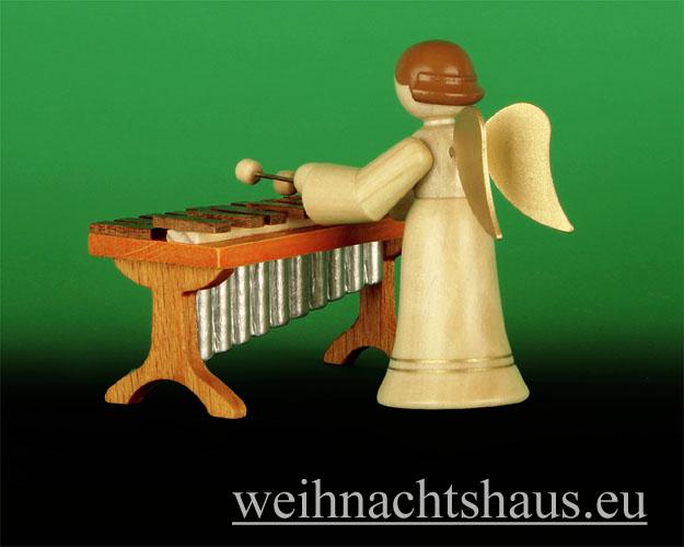 Seiffen Weihnachtshaus - Musikantenengel natur Xylophon 2 tlg. Neu 2014 - Bild 2