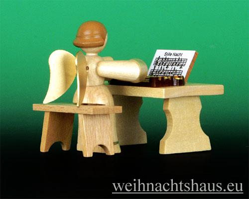 Seiffen Weihnachtshaus - Musikantenengel natur Zither - Bild 2