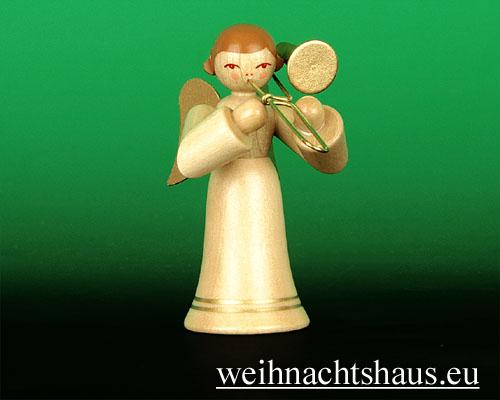 Seiffen Weihnachtshaus - Musikantenengel natur Zugposaune - Bild 1