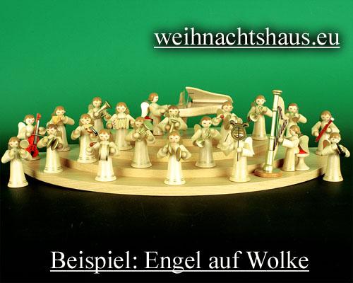 Seiffen Weihnachtshaus - Musikantenengel natur Flügel - Bild 2