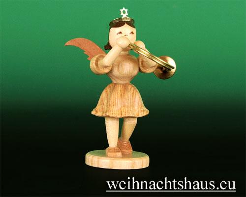 Seiffen Weihnachtshaus - Kurzrockengel natur Althorn - Bild 1