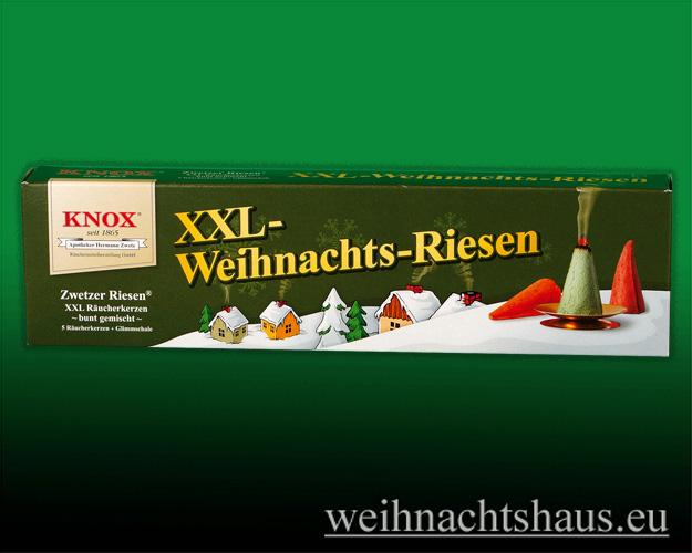 Seiffen Weihnachtshaus - Räucherkerzen Gross Knox Weihnachtsmischung XXL Raeucher-Kerze - Bild 1