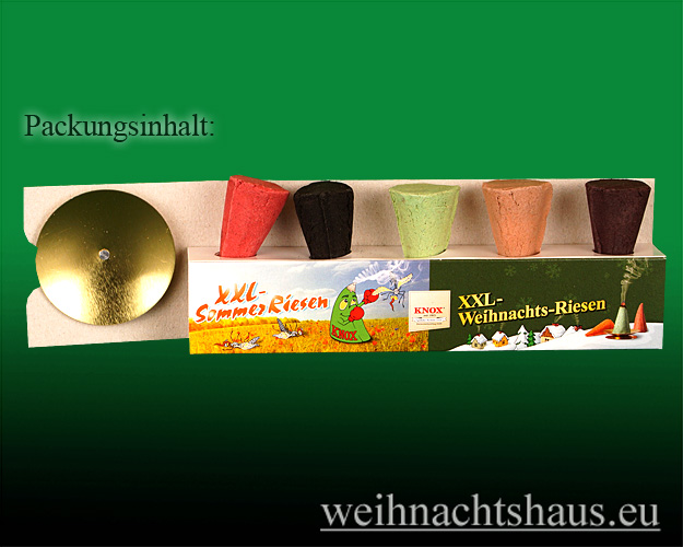 Seiffen Weihnachtshaus - Räucherkerzen Gross Knox Weihnachtsmischung XXL Raeucher-Kerze - Bild 2