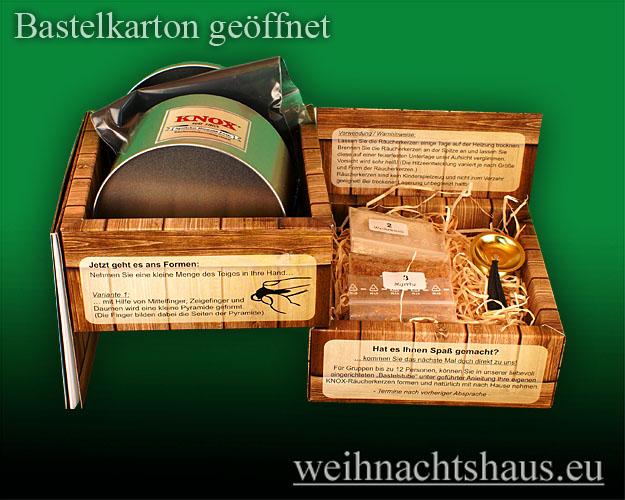Seiffen Weihnachtshaus - Bastelsatz Erzgebirge Räucherkerzen selbst Herstellen - Bild 2