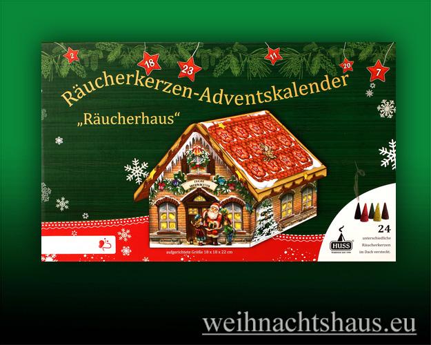 Seiffen Weihnachtshaus - Adventskalender  Huss Räucherkerzen Räucherhaus - Bild 2