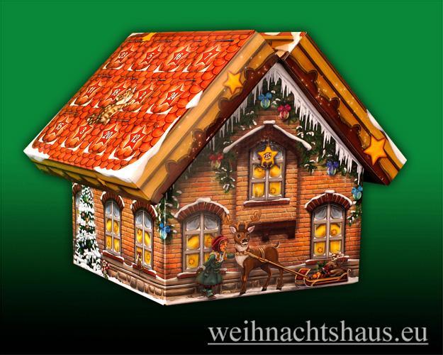 Seiffen Weihnachtshaus - Adventskalender  Huss Räucherkerzen Räucherhaus - Bild 3