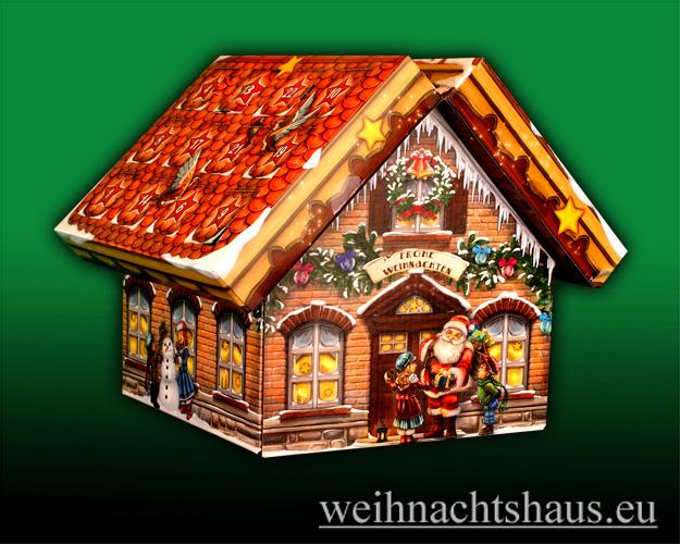Seiffen Weihnachtshaus - Adventskalender  Huss Räucherkerzen Räucherhaus - Bild 1
