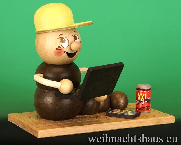Seiffen Weihnachtshaus - <!--11-->Räuchermann Räucherwurm Erzgebirge Computerwurm - Bild 1