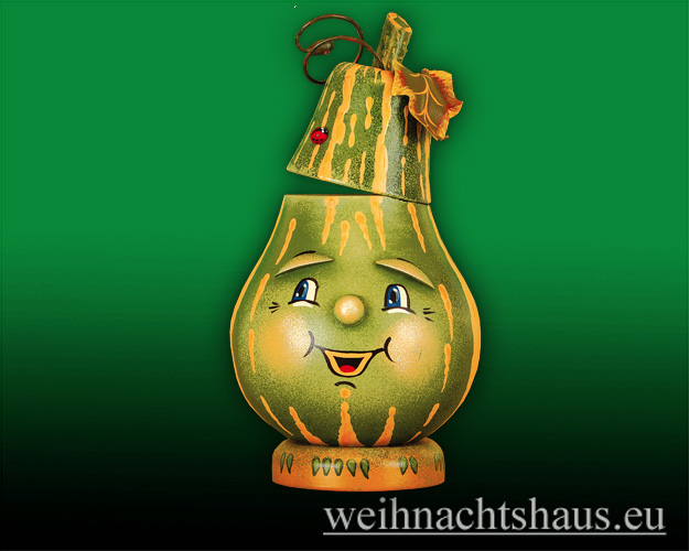 Seiffen Weihnachtshaus - <!--07-->Räucherfigur  Flaschenkürbis - Bild 1