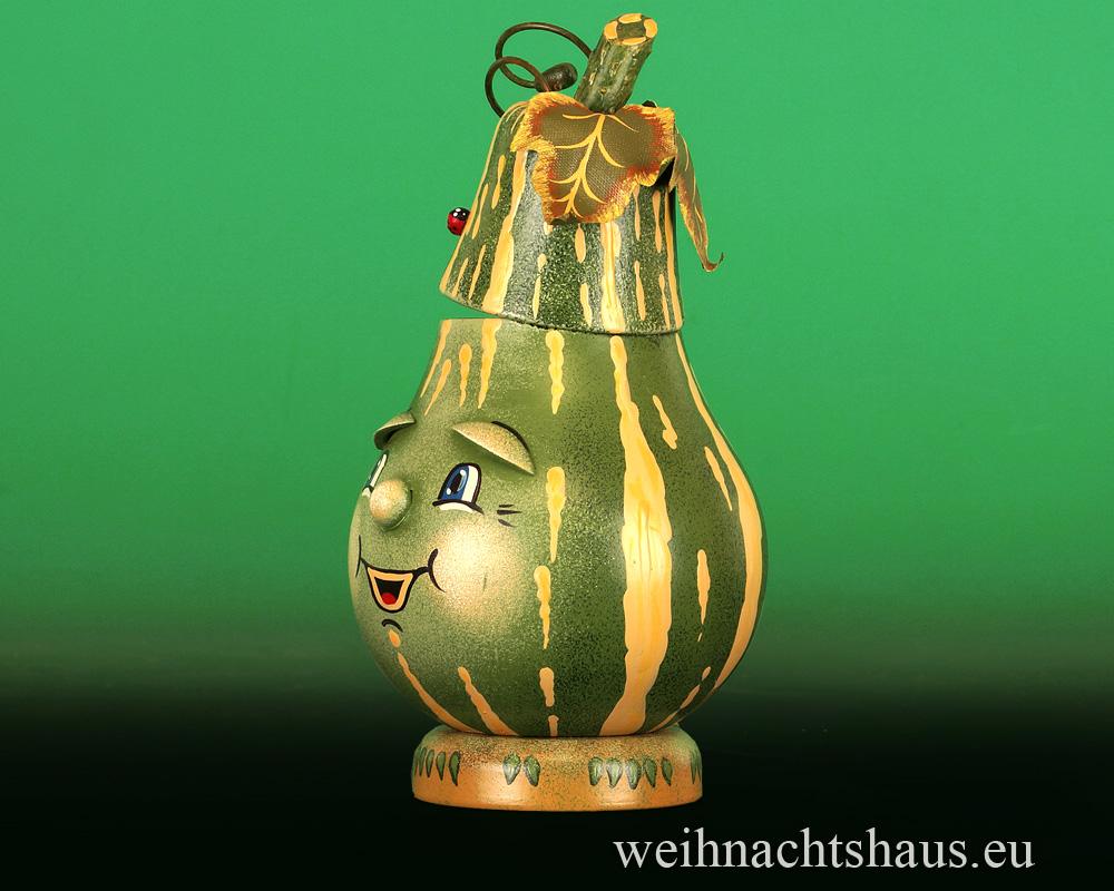 Seiffen Weihnachtshaus - <!--07-->Räucherfigur  Flaschenkürbis - Bild 2