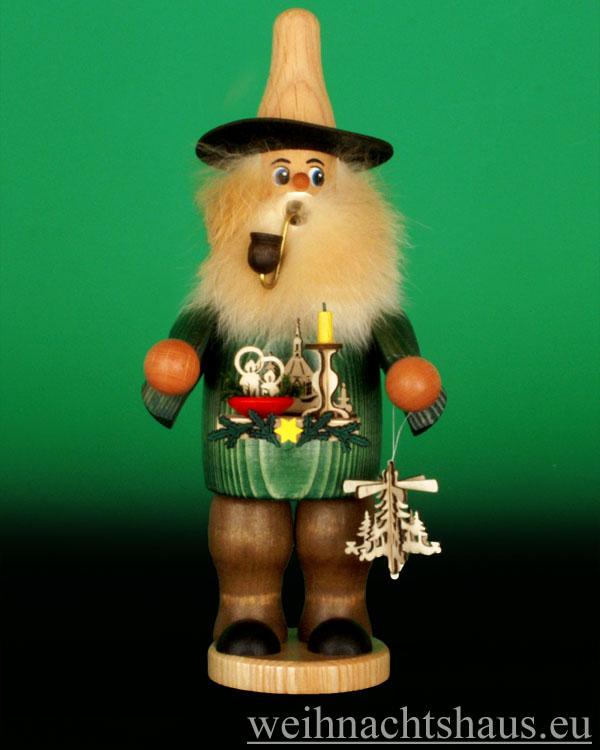 Seiffen Weihnachtshaus - <!--08-->Räuchermann Wichtel kleiner Leuchterhändler - Bild 1