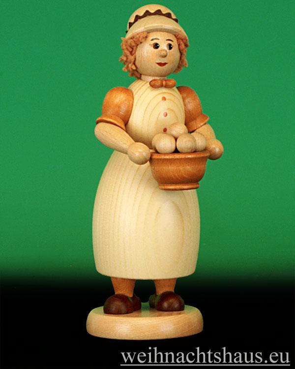 Seiffen Weihnachtshaus - <!--03-->Räucherfrau  mit Klößen- Kloßfrau 24cm - Bild 1