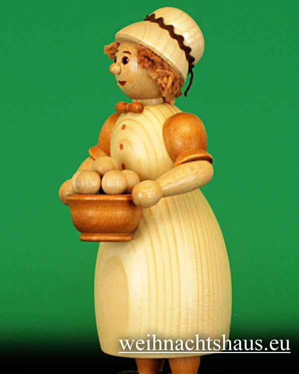 Seiffen Weihnachtshaus - <!--03-->Räucherfrau  mit Klößen- Kloßfrau 24cm - Bild 2