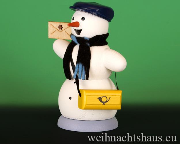 Seiffen Weihnachtshaus - <!--13-->Räuchermann Schneemann Posbote - Bild 2