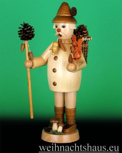 Seiffen Weihnachtshaus - <!--09-->Räuchermann Zapfensammler natur - Bild 1