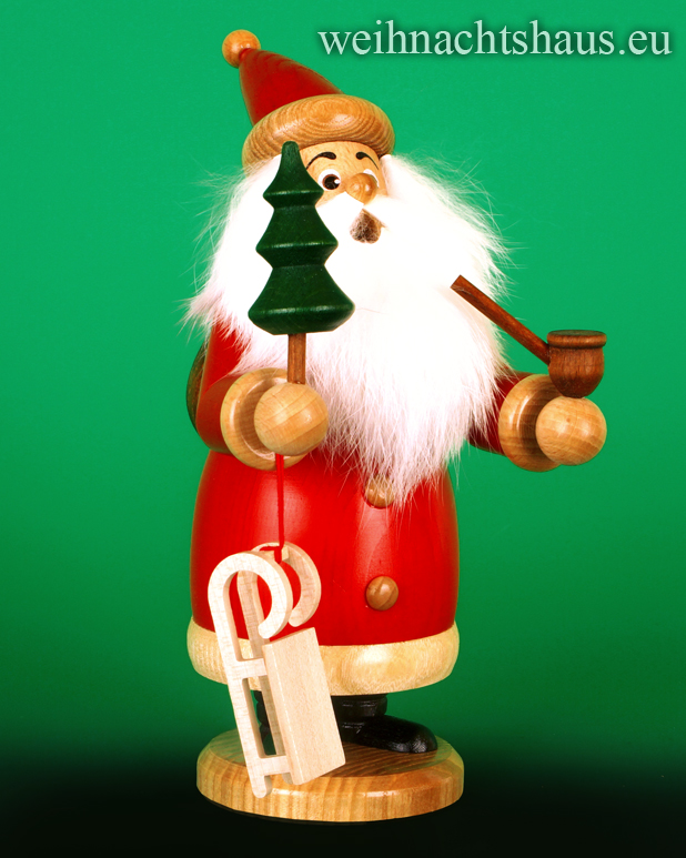 Weihnachtsmann Räuchermann Wichtel Räuchermännchen Erzgebirge Weihnachtsmänner Holzweihnachtsmann erzgebirgisch