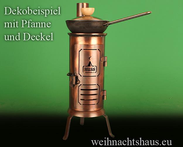 Seiffen Weihnachtshaus - Räucherofen gross aus Metall Tisch Hussl - Bild 3