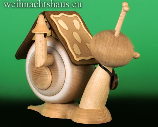 Seiffen Weihnachtshaus - <!--11-->Räucherschnecke Erzgebirge  Lebkuchen Neu 2019 - Bild 2
