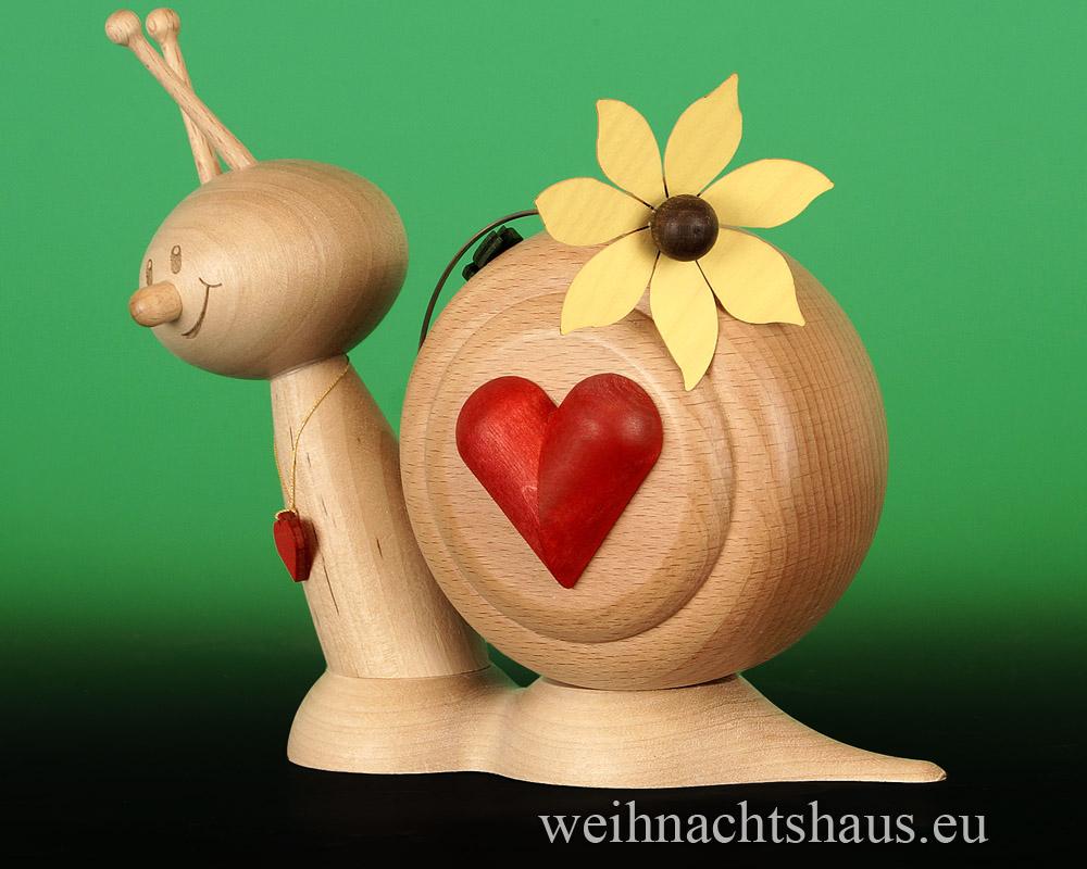 Räuchermännchen Herz Herzlich Geschenk Deko Valentin Valentinstag Räucherschnecke Erzgebirge Liebesschnecke Liebe herzlichen