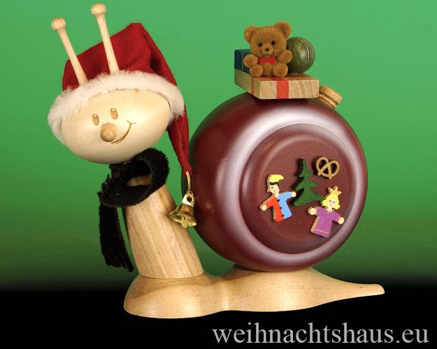 Seiffen Weihnachtshaus - <!--11-->Räucherschnecke Erzgebirge Weihnachtsschnecke - Bild 1