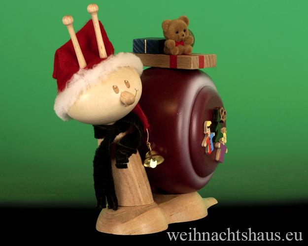 Seiffen Weihnachtshaus - <!--11-->Räucherschnecke Erzgebirge Weihnachtsschnecke - Bild 2