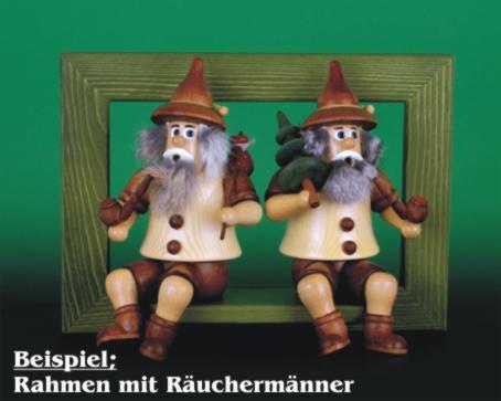 Seiffen Weihnachtshaus - <!--02-->Räuchermann Wichtel sitzend Baumdieb - Bild 2