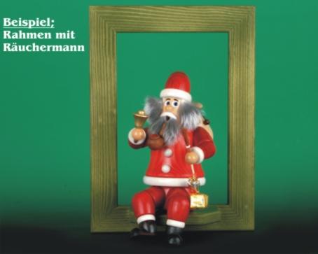 Seiffen Weihnachtshaus - <!--02-->Räuchermann sitzend Wichtel Weihnachtsmann - Bild 2