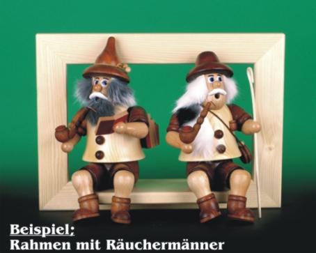 Seiffen Weihnachtshaus - <!--02-->Räuchermann Wichtel sitzend Schäfer - Bild 2