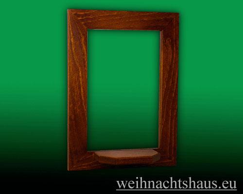 Seiffen Weihnachtshaus - Wandrahmen Fichte braun B 24 x H 33 cm - Bild 1