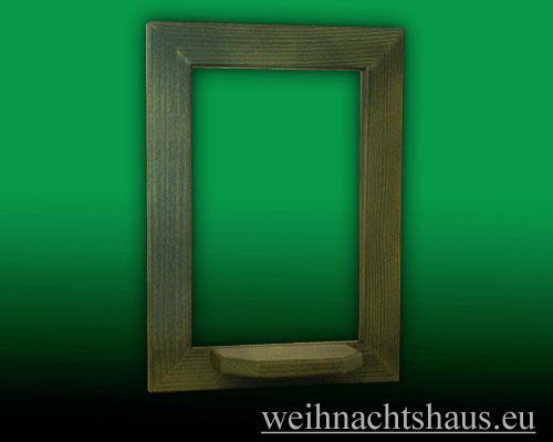 Seiffen Weihnachtshaus - Wandrahmen Dekorahmen aus Holz Erzgebirge,  grün B 24 x H 33 cm - Bild 1
