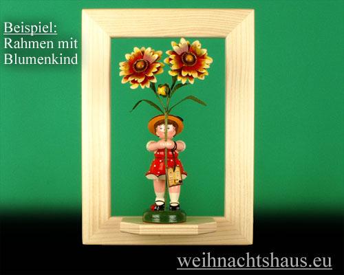 Seiffen Weihnachtshaus - Wandrahmen-Dekorahmen natur Rahmen aus Holz  B 24 x H 33 cm - Bild 2