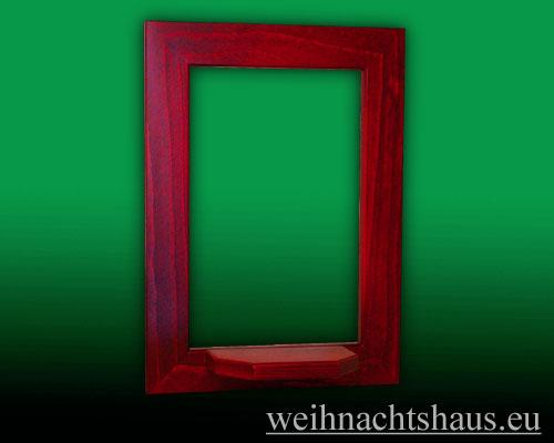 Seiffen Weihnachtshaus - Wandrahmen Fichte rot B 24 x H 33 cm - Bild 1