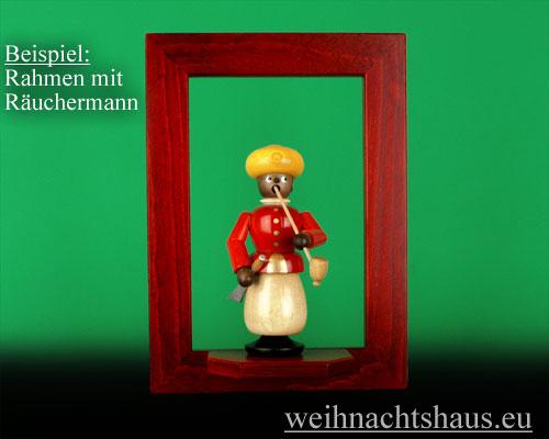 Seiffen Weihnachtshaus - Wandrahmen Fichte rot B 24 x H 33 cm - Bild 2