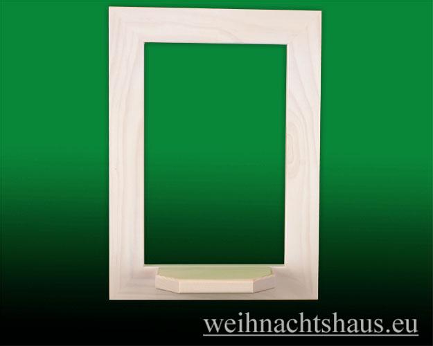 Seiffen Weihnachtshaus - Wandrahmen Fichte weiß B 24 x H 33 cm - Bild 1