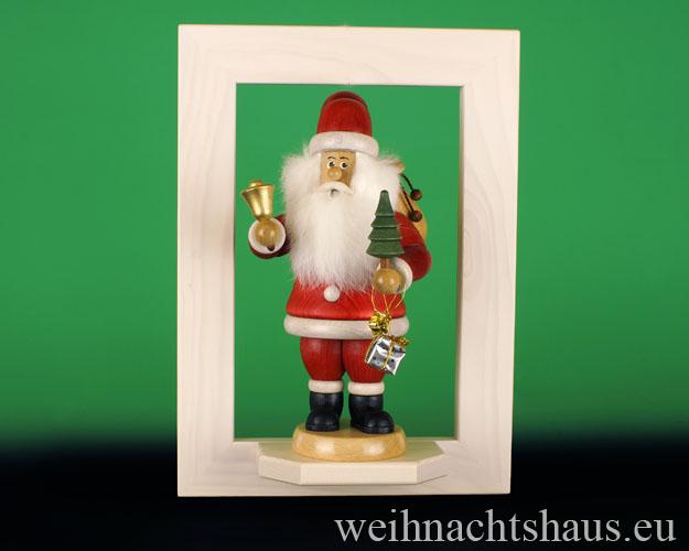 Seiffen Weihnachtshaus - Wandrahmen Fichte weiß B 24 x H 33 cm - Bild 2