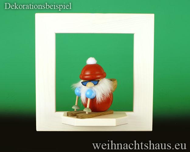 Seiffen Weihnachtshaus - Wandrahmen Fichte weiß B 24 x H 24 cm - Bild 2