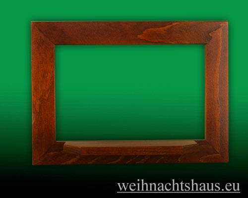 Seiffen Weihnachtshaus - Wandrahmen Fichte braun B 33 x H 24 cm - Bild 1