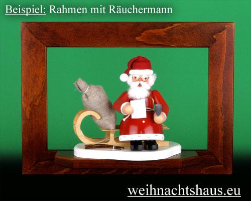 Seiffen Weihnachtshaus - Wandrahmen Fichte braun B 33 x H 24 cm - Bild 2