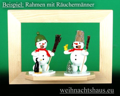 Seiffen Weihnachtshaus - Wandrahmen-Dekorahmen, natur Rahmen aus Holz    B 33 x H 24 cm - Bild 2