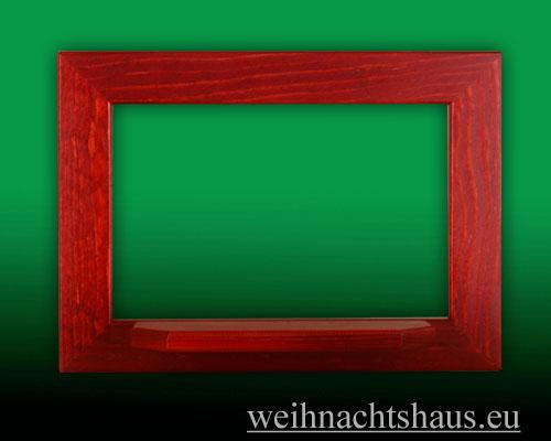 Seiffen Weihnachtshaus - Wandrahmen Fichte rot B 33 x H 24 cm - Bild 1