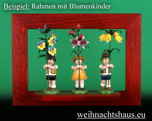 Seiffen Weihnachtshaus - Wandrahmen Fichte rot B 33 x H 24 cm - Bild 2