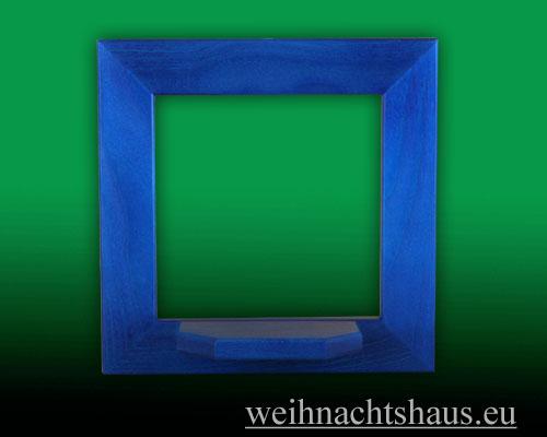 Seiffen Weihnachtshaus - Wandrahmen Fichte blau B 24 x H 24 cm - Bild 1