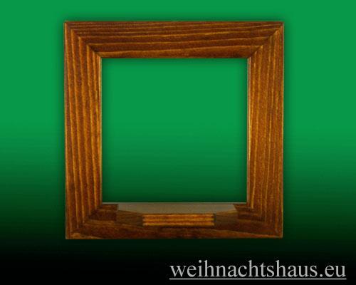 Seiffen Weihnachtshaus - Wandrahmen Fichte braun B 24 x H 24 cm - Bild 1