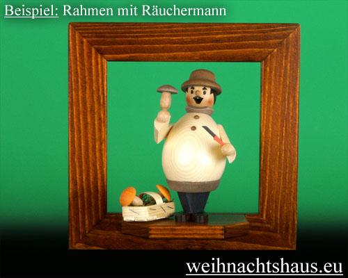 Seiffen Weihnachtshaus - Wandrahmen Fichte braun B 24 x H 24 cm - Bild 2