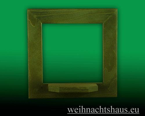 Seiffen Weihnachtshaus - Wandrahmen Dekorahmen aus Holz grün B 24 x H 24 cm - Bild 1