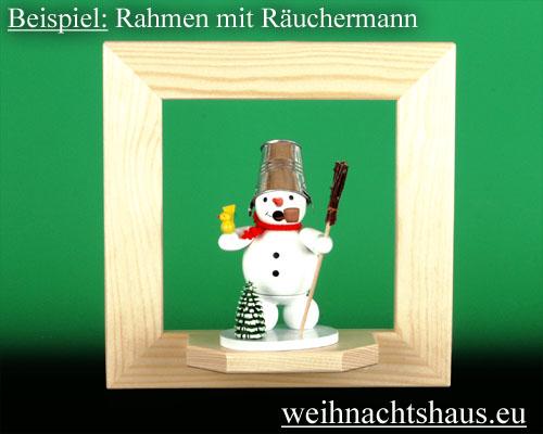 Seiffen Weihnachtshaus - Wandrahmen-Dekorahmen  natur Rahmen aus Holz  B 24 x H 24 cm - Bild 2