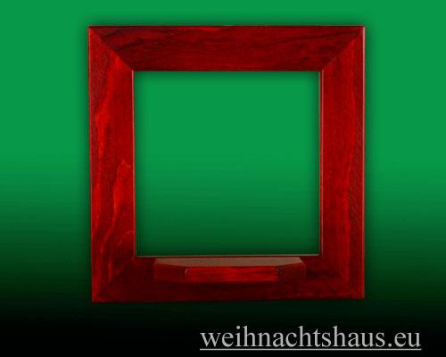 Seiffen Weihnachtshaus - Wandrahmen Fichte rot B 24 x H 24 cm - Bild 1