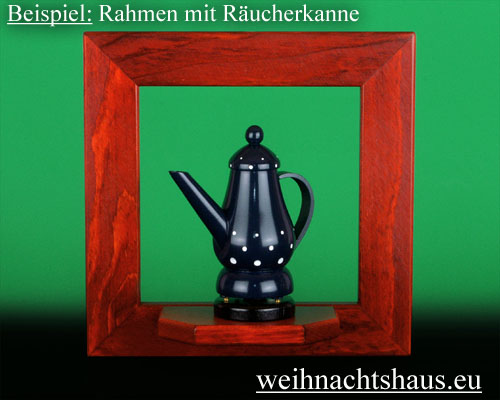 Seiffen Weihnachtshaus - Wandrahmen Fichte rot B 24 x H 24 cm - Bild 2