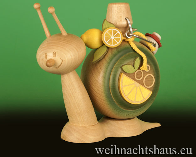 Seiffen Weihnachtshaus - <!--11-->Räucherschnecke Erzgebirge Brauseschnecke - Bild 1
